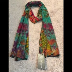 BL/BL 219153.  Sacred Threads Tie-Dye Scarf